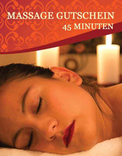 Massage-Gutschein 45 Minuten
